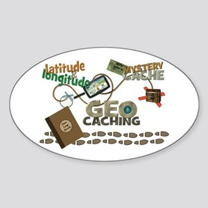 Geocache Fever Sticker (Oval)