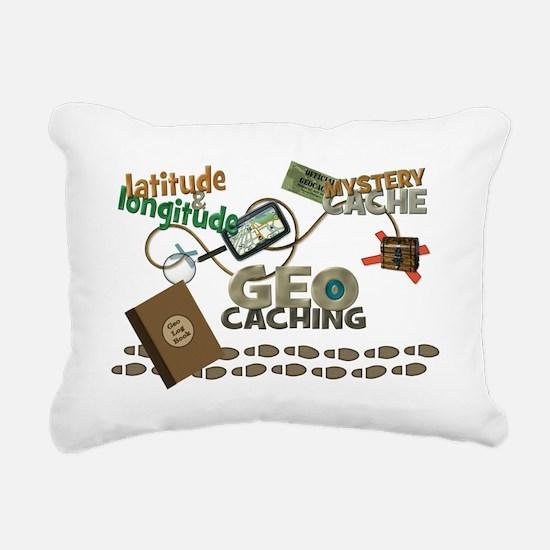 Geocache Fever Rectangular Canvas Pillow