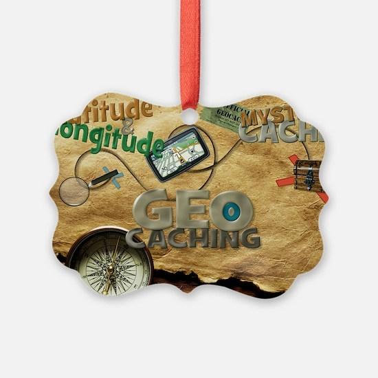 Geocache Fever Picture Ornament
