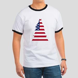 American Flag Christmas Tree T-Shirt