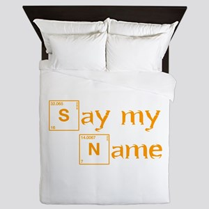 say-my-name-break-orange 2 Queen Duvet