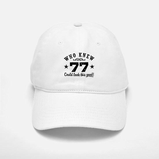 Funny 77th Birthday Baseball Baseball Cap