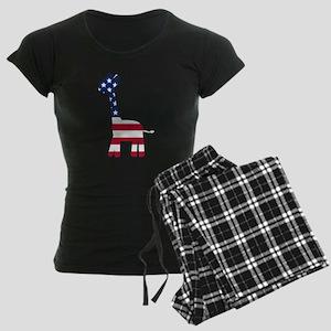 American Flag Giraffe Pajamas