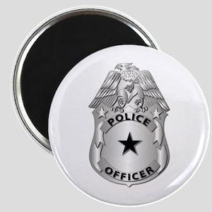 Gov - Police Officer Badge Magnet