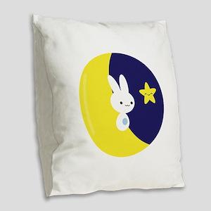 Moonbunny Burlap Throw Pillow