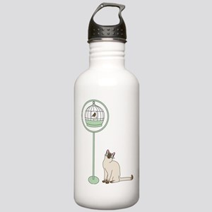 Cat and Bird Water Bottle