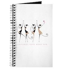 Fun Tripawd Cats Dancing Journal