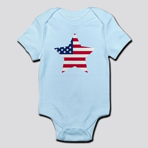 American Flag Star Body Suit