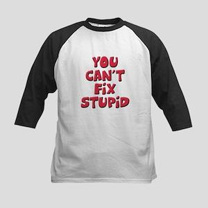 Fix Stupid Kids Baseball Jersey