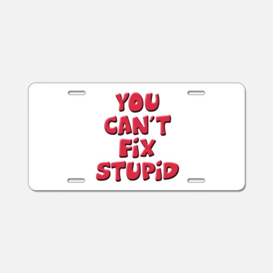Fix Stupid Aluminum License Plate