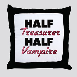 Half Treasurer Half Vampire Throw Pillow