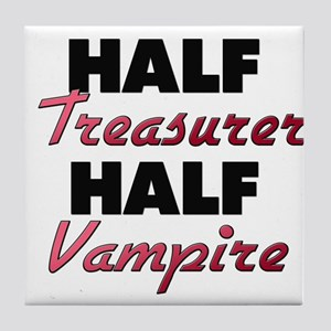 Half Treasurer Half Vampire Tile Coaster
