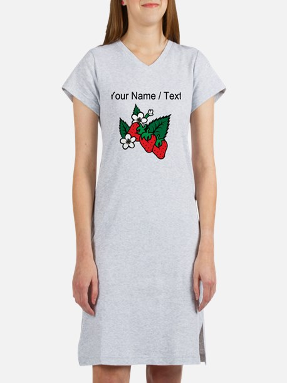 Custom Strawberries Women's Nightshirt