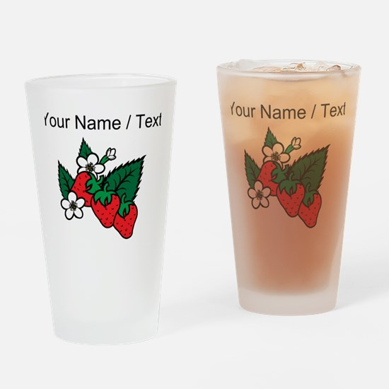 Custom Strawberries Drinking Glass