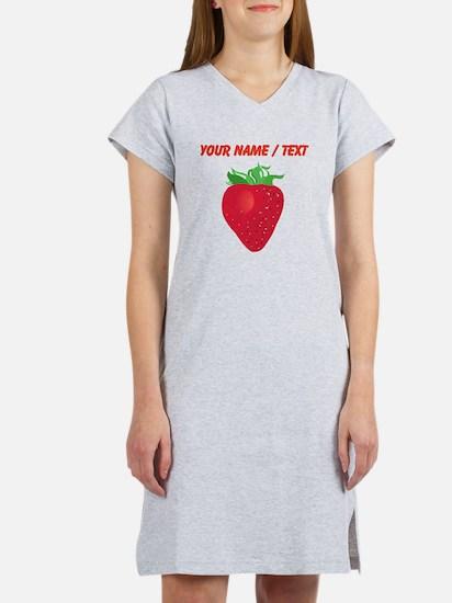 Custom Strawberry Women's Nightshirt