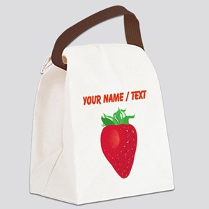 Custom Strawberry Canvas Lunch Bag