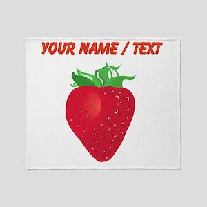 Custom Strawberry Throw Blanket