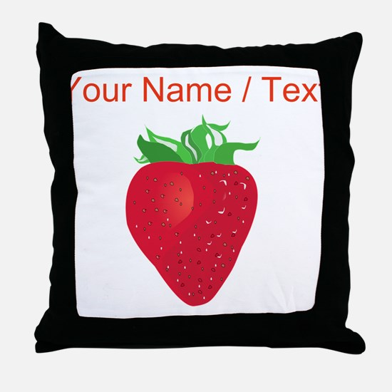 Custom Strawberry Throw Pillow