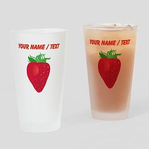 Custom Strawberry Drinking Glass