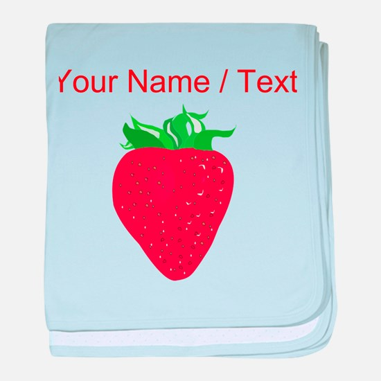 Custom Strawberry baby blanket
