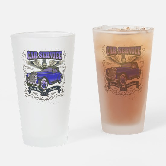 Funny Car parts Drinking Glass