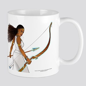 Nuhamin with Bow Arrow - white background Mugs
