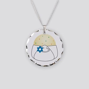 Mommy's Little Matzo Ball Necklace Circle Charm