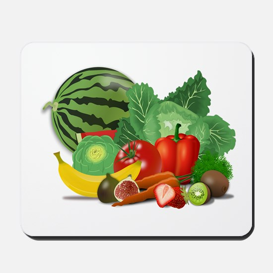 Fruits And Vegetables Mousepad