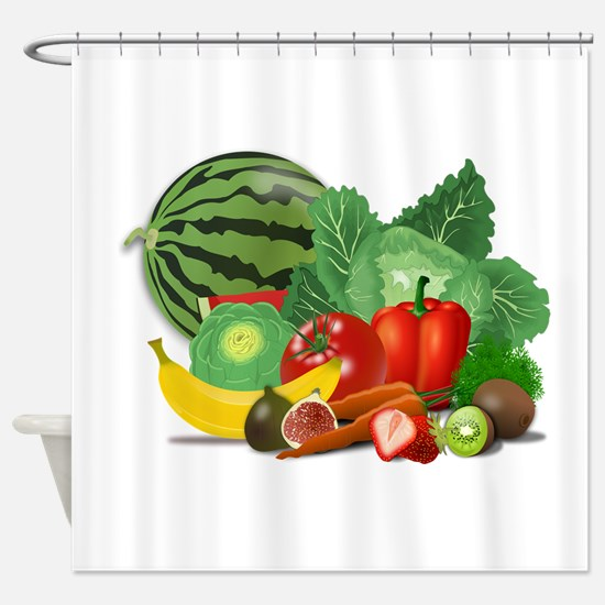 Fruits And Vegetables Shower Curtain