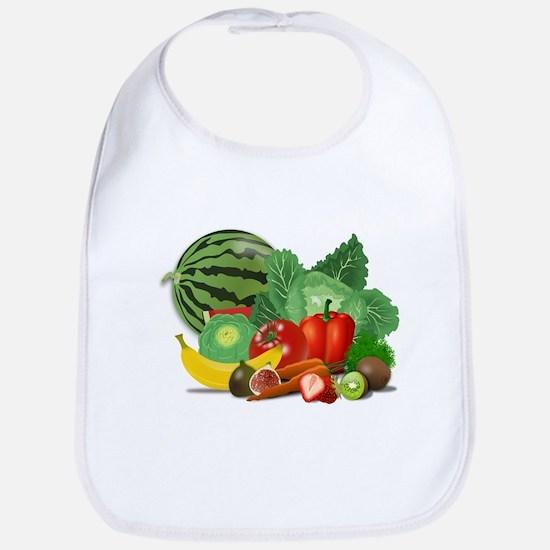 Fruits And Vegetables Bib