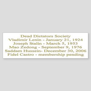 Dead Dictators Society Bumper Sticker