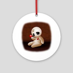 Voodoo Doll Cartoon in Love Ornament (Round)