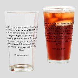 Advice to Midshipmen Drinking Glass