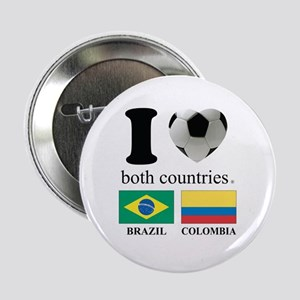 "BRAZIL-COLOMBIA 2.25"" Button"