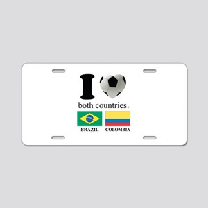 BRAZIL-COLOMBIA Aluminum License Plate