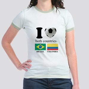BRAZIL-COLOMBIA Jr. Ringer T-Shirt