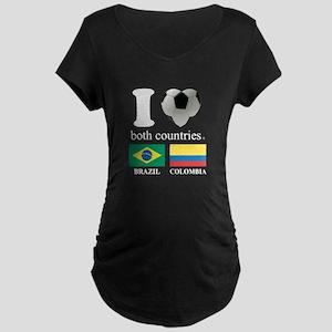 BRAZIL-COLOMBIA Maternity Dark T-Shirt