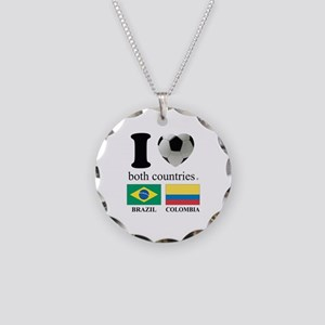 BRAZIL-COLOMBIA Necklace Circle Charm