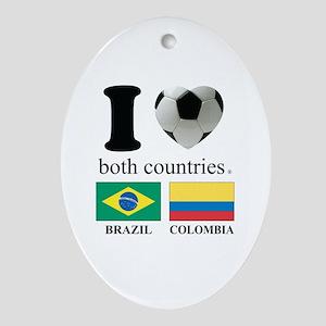 BRAZIL-COLOMBIA Ornament (Oval)