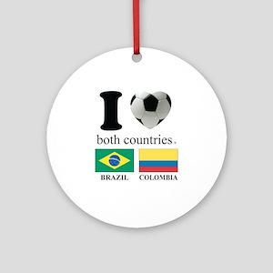 BRAZIL-COLOMBIA Ornament (Round)