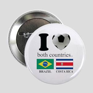 """BRAZIL-COSTA RICA 2.25"""" Button"""