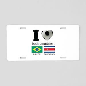BRAZIL-COSTA RICA Aluminum License Plate