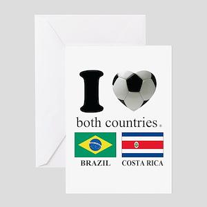 BRAZIL-COSTA RICA Greeting Card