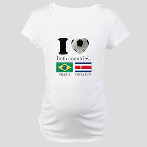 BRAZIL-COSTA RICA Maternity T-Shirt