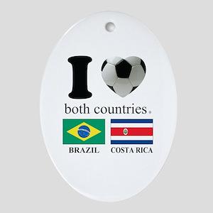BRAZIL-COSTA RICA Ornament (Oval)