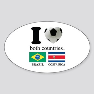 BRAZIL-COSTA RICA Sticker (Oval)