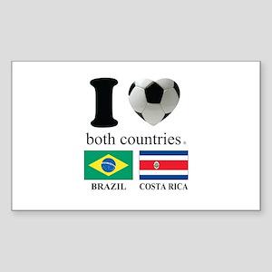 BRAZIL-COSTA RICA Sticker (Rectangle)