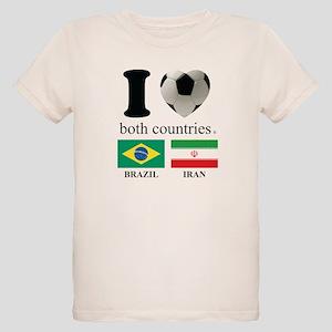 BRAZIL-IRAN Organic Kids T-Shirt