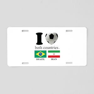 BRAZIL-IRAN Aluminum License Plate
