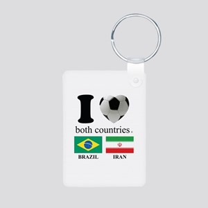 BRAZIL-IRAN Aluminum Photo Keychain